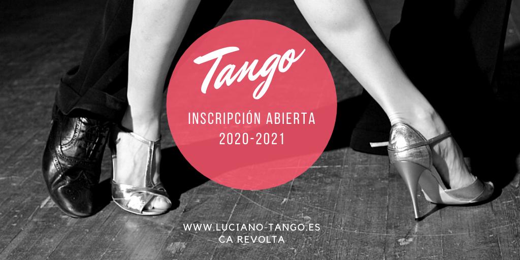 inscripcion clases tango valencia 2020-2021